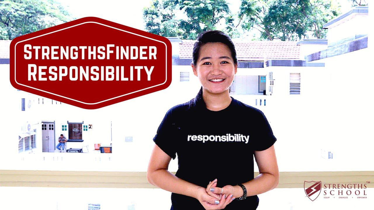 StrengthsFinder 'Responsibility' Talent Theme
